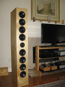 """The Art Arrays are a line array type speaker using eight 5.5"""" woofers with a single 1"""" dome tweeter."""