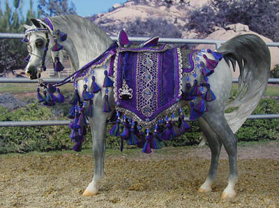 Trad. scale Showring/Hollywood Arabian costume by Abby Marston of Marston Art