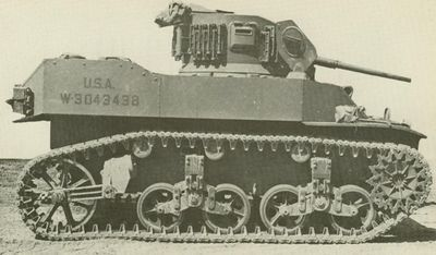 M5 STUART LIGHT TANK<br />  (Picture from Development of Armored Vehicles, volume 1: Tanks.)<br /> (FOUND PIC ON afvdb.50megs.com )