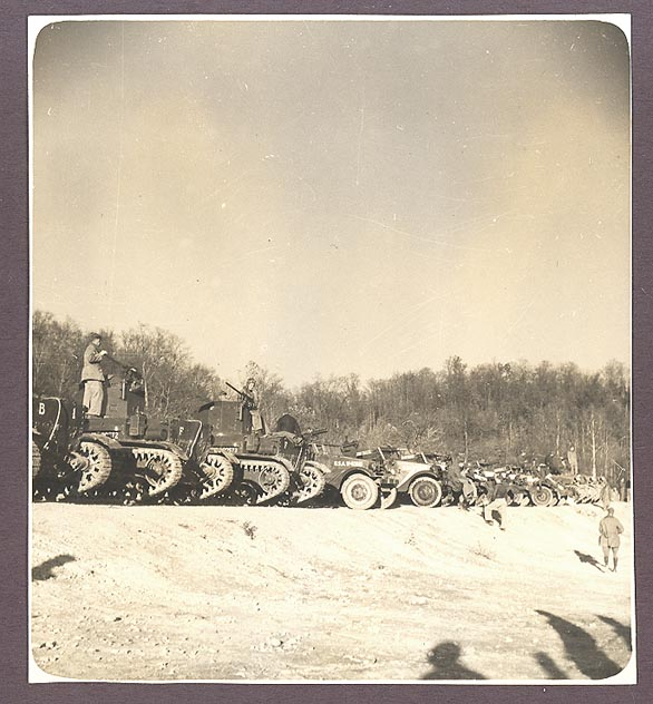Original 1940 photograph taken at the Armored Force school in Fort Knox from November 1940 through February 1941