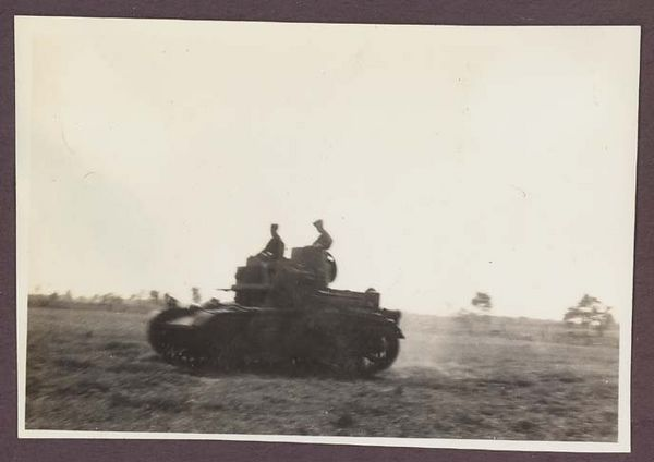 First US Army manouvers at Pine Camp New York, August 1940.<br /> 29th Tank Company Virginia National Guard.