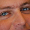 Close-up of Jamie's eyes. Look carefully in his right eye and you can see the reflection of the photographer.