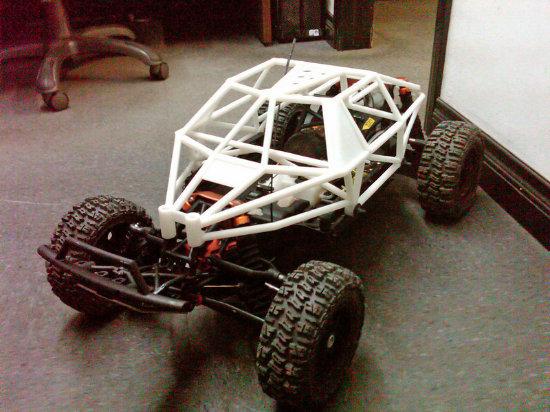 Team Chase's first Rapid Prototype (SLA) of the Roll Cage