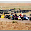 Second Creek 1989.  Not sure who's in theTitan, probably me judging by the lack of height in the seat. But take note of the #12 car on the left.  Scott Krista by this time had completed his #12 Lola FF and is now the third musketeer of Team Terrific.