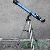 skywatcher refractor telescope on wiggly fork mount -