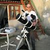 dacha telescopes - Clay with Nikon D90 astrophotography setup