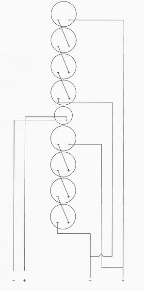 Wiring diagram. (AutoCad drawing by Ryan Herrera of RH Custom Cables).