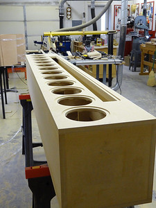 One completed enclosure ready for veneering.