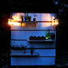 At night.  I bought some citronella tea lights for the lanterns.