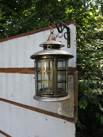 Added lanterns, already had these also.  I was going to use canning jars with tea lights, but went with these instead.