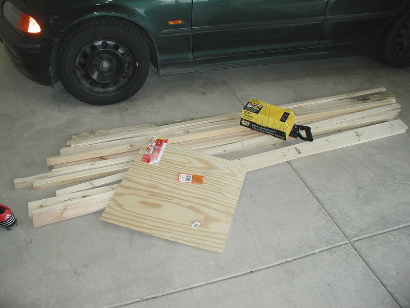 Buy some wood and tools.