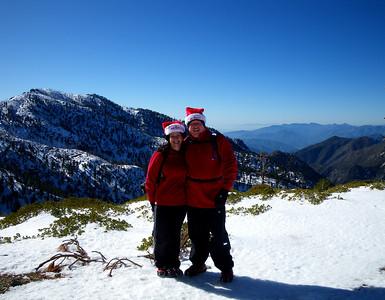 Christmas in California: Timber (Chapman) Mountain Hike, Mt Baldy CA December 25, 2009