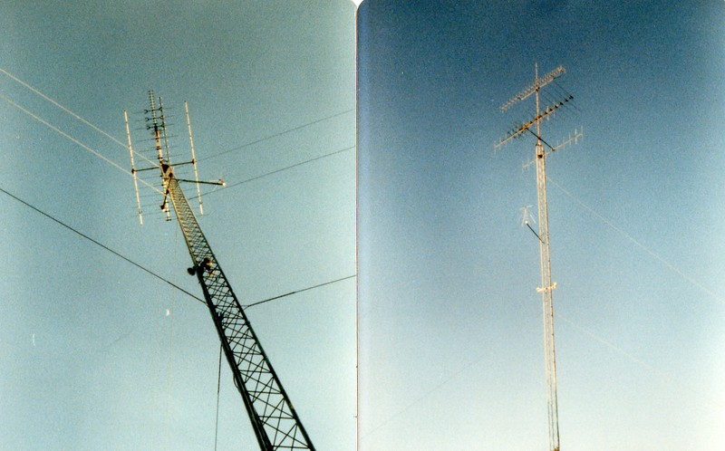 This is a picture of the tower Pam and I built when we live in Brown Co early 80's. Stacking 25G to the sky.<br /> Yes, we built that.<br /> I remember the day we had a small earth quake, I ran outside to see my tower shaking!