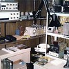 Ham shack Eller Rd. 1979<br /> ATV transmitter, receiver,  video switcher and graphics generator at the top of the rack .