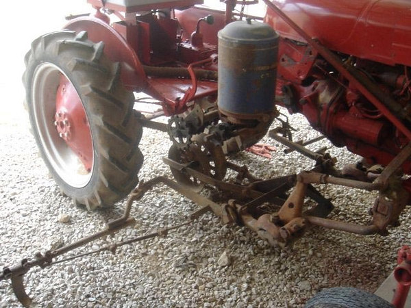 Farmall Cub with 172 runner planter sent by Brandon Webb of London, KY.