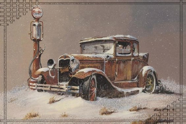 This is a Ford Model A coupe. Home page art of D&T Auto Sales, Forest Lake, MN. downloaded Feb. 22, 2008.
