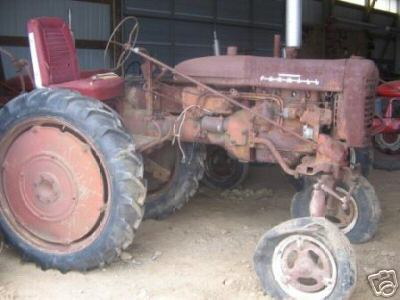 Old unrestored Farmall 100 high-clearance tractor for sale on ebay. March 2007