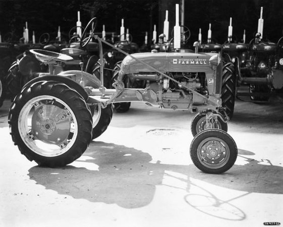 First Farmall Cub off the assembly line in Lexington, Ky. Serial No. 501. Photo courtesy Wisconsin Historical Society website.