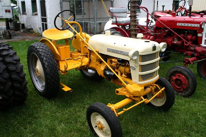 Yellow Farmall Cub Loboy, circa 1958. Uploaded from farmallcub.com photo gallery.