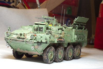 Trumpeter 1/35 M1129 Stryker Mortar Carrier Vehicle MC-B Plastic Model Build