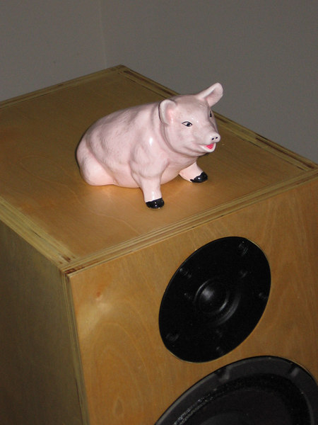 The pink piggie tweak rounds out the midbass nicely. Piano recordings especially become richer and fuller sounding. I named this piggie Jezebel because of her shameful behavior around boy piggie tweaks, so be careful to isolate her or you will have more little tweakies than you need.