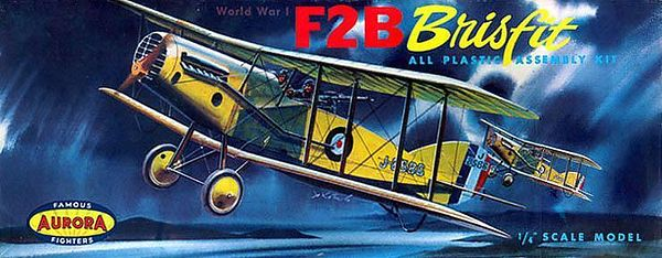 "F2B BRISFIT<br /> ORIGINAL ISSUE. AURORA 1957.<br /> UNBUILT. MINT IN VERY FINE BOX.<br /> 1/4"" SCALE<br /> KIT # H-113:98"