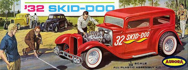 "'32 SKID-DOO<br /> ORIGINAL ISSUE. AURORA 1963<br /> UNBUILT. MINT IN  MINT BOX.<br /> 1/32"" SCALE<br /> KIT #  554-79"
