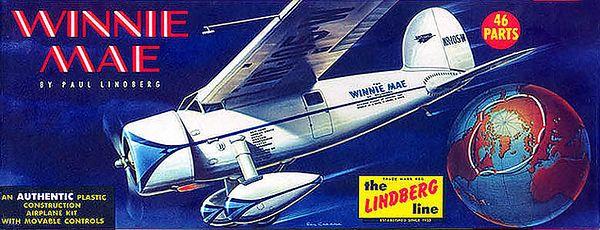 "WINNIE MAE<br /> ORIGINAL ISSUE. LINDBERG 1959<br /> UNBUILT. MINT IN  MINT BOX.<br /> 1/4"" SCALE<br /> KIT # 533:98"
