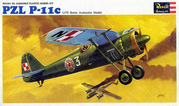 "PZL P-11C.<br /> ORIGINAL ISSUE. REVELL  1966.<br /> UNBUILT. MINT IN MINT BOX (STILL SEALED).<br /> 1/72"" SCALE<br /> KIT #  H-647:60"