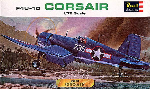 "F4U-1D CORSAIR.<br /> ORIGINAL ISSUE. REVELL  1964.<br /> UNBUILT. MINT IN MINT BOX.<br /> 1/72"" SCALE<br /> KIT #  H-625:49"