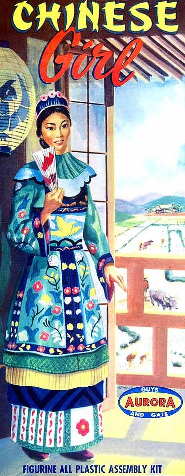 "CHINESE GIRL<br /> ORIGINAL ISSUE. AURORA 1957<br /> UNBUILT. GEM MINT IN GEM MINT BOX. [FLAWLESS]<br /> 1/4"" SCALE<br /> KIT # 116-.98"