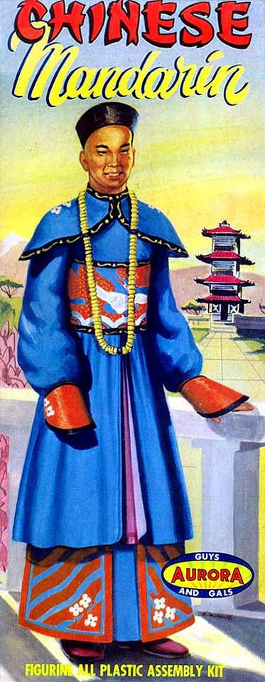 "CHINESE MANDERIN<br /> ORIGINAL ISSUE. AURORA 1957<br /> UNBUILT. GEM MINT IN GEM MINT BOX. [FLAWLESS]<br /> 1/4"" SCALE<br /> KIT # 115-.98"