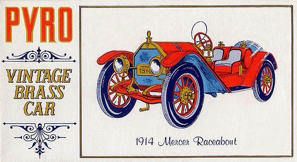 "1914 MERCER RACEABOUT<br /> (""VINTAGE BRASS CAR"" SERIES) <br /> ORIGINAL ISSUE. PYRO 1967<br /> UNBUILT. MINT IN  MINT BOX.<br /> 1/32"" SCALE<br /> KIT #  C452-125"