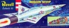 "MOON SHIP (ENTER THE AGE OF SPACE!).<br /> ORIGINAL ISSUE 'S' KIT. REVELL  1957.<br /> UNBUILT. MINT IN MINT BOX.<br /> 1/4"" SCALE<br /> KIT # H-1825: 79"