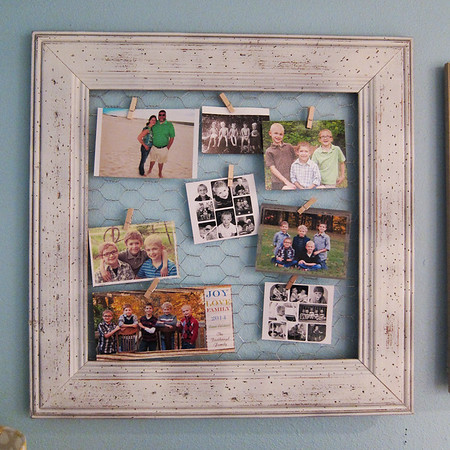 Chicken Wire Photo Collage Frame
