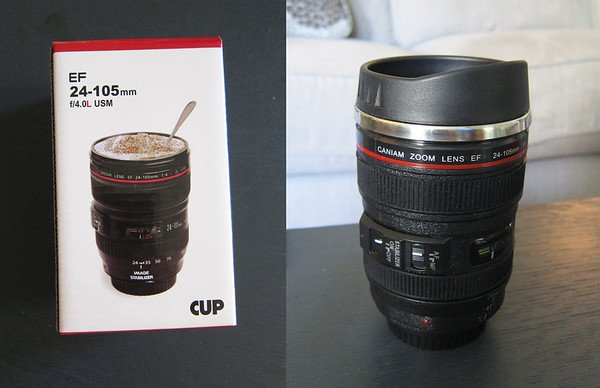 How cool is this!  It's a coffee cup that looks like a lens!  I love it!  You can find these at amazon.  Shoot Nikon?  They have those too.