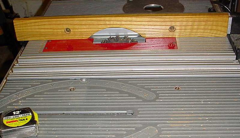"Freud 6"" dado blade installed w/ sacrificial fence"