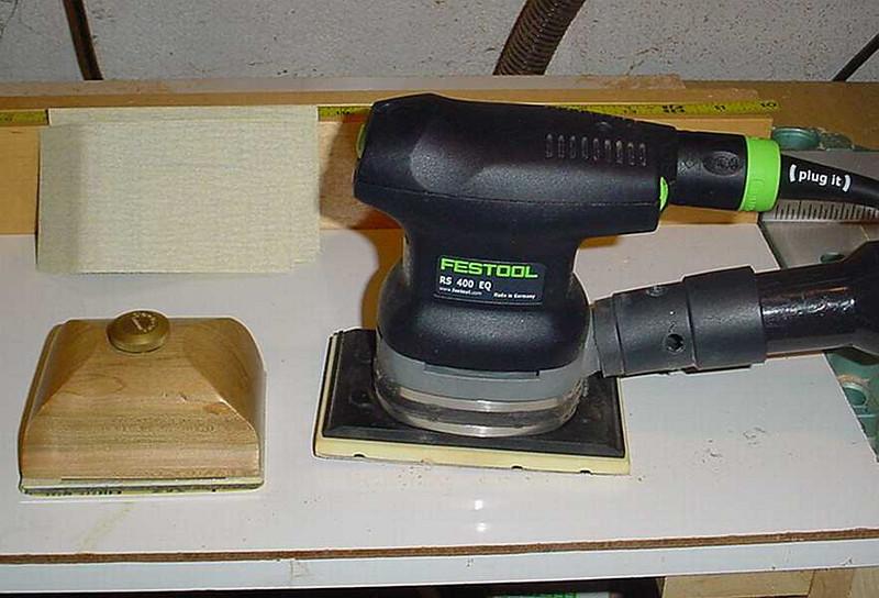Final sanding schedule - 180 grit on Festool; same grit on hand sander; and 180 grit paper for final hand sanding.