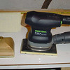 Final sanding schedule - 180 grit on Festool; same grit on hand sander; and 180 grit paper for final hand sanding.