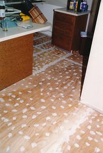 Kitchen & Laundry Tile Floor Install (1995)