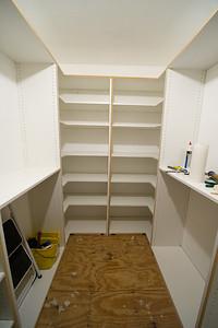 Corner shelves complete.