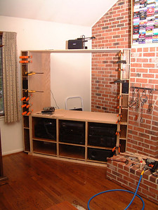 Cubicles for DVD & side speakers attached.