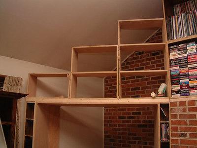 Upper shelves added.