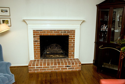 Original mantle and hearth (see last page for final result.)