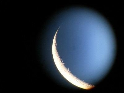 4 or 5 day old Moon. Shot through TV-85, 7mm Nagler and Samsung Galaxy S3 @85X.