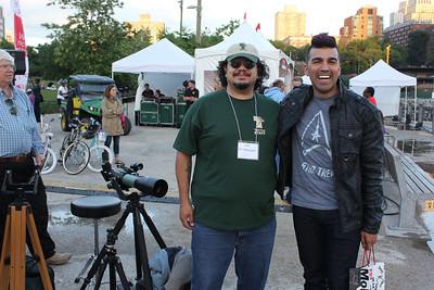 World Science Festival 2014. Bobak Ferdowsi (Mohawk Guy from NASA) and myself.