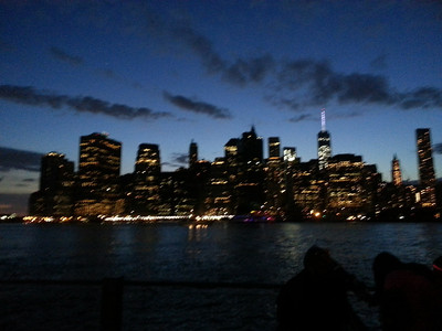 Lower Manhattan at dusk