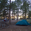 Camping on the rim.