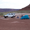 White Rim Trail, Island in the sky NP Moab Utah. We camped here on our 90 mile two day trip. Only one camp site at Candle Stick.