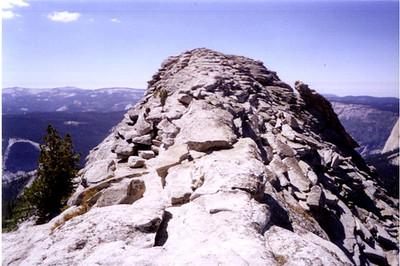 Narrow landing zone (LZ) at the top!